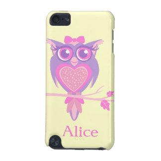 女の子のかわいいフクロウの紫色の黄色い一流のiPodの箱 iPod Touch 5G ケース