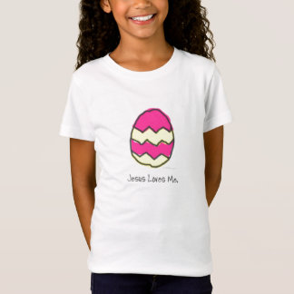 女の子のためのイースターエッグのワイシャツ Tシャツ