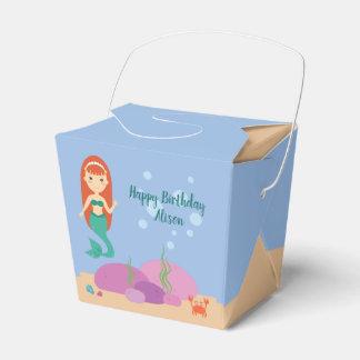 女の子のための人魚の夏の誕生会の好意箱 フェイバーボックス
