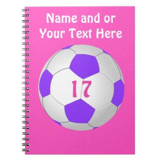 女の子のための名前入りなサッカーのノート ノートブック