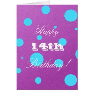女の子のための幸せな第14バースデー・カード カード