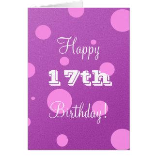 女の子のための幸せな第17バースデー・カード グリーティングカード