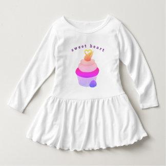 女の子のための恋人のカップケーキの服 ドレス
