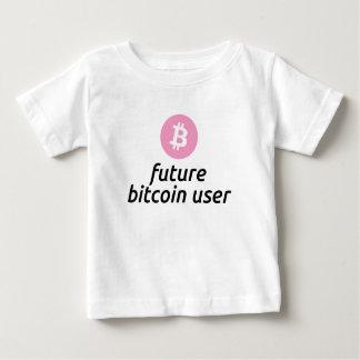 女の子のための未来のBitcoinのユーザーのワイシャツ ベビーTシャツ