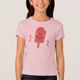 女の子のための破裂音芸術のアイスキャンデーの芸術のTシャツ Tシャツ