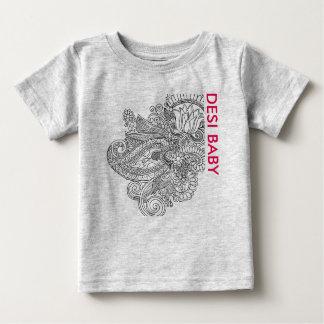 女の子のためのDesiのベビーのTシャツ ベビーTシャツ