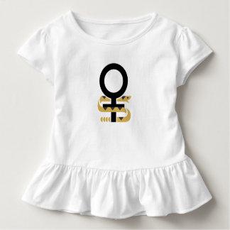 女の子のひだTのヘビサポート女性の権利 トドラーTシャツ