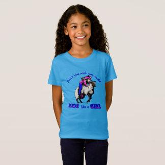 """女の子のようなロデオの女性のカーボーイのマトンのBustinの""""乗車 Tシャツ"""