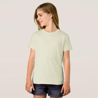 女の子のアメリカの服装のオーガニックなTシャツ Tシャツ