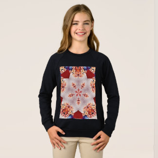 女の子のアメリカの服装のRaglanのスエットシャツ スウェットシャツ