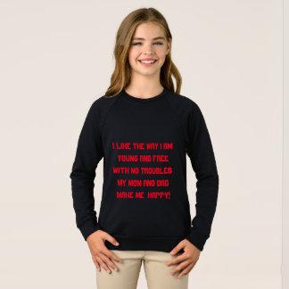 女の子のアメリカの服装のraylanスエットシャツ スウェットシャツ