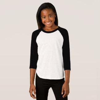 女の子のアメリカの服装3/4枚の袖のRaglanのTシャツ Tシャツ