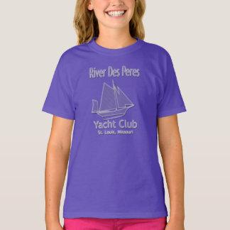 女の子のオーガニックな川DesペレスのヨットクラブのTシャツ Tシャツ