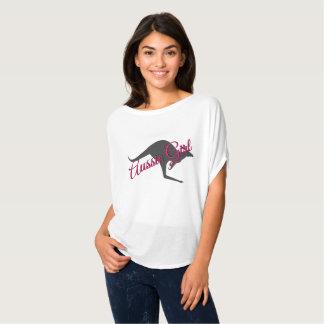 女の子のカンガルーのオーストラリアのオーストラリアのワイシャツ Tシャツ