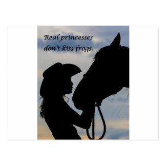 女の子のキスをするな馬 ポストカード