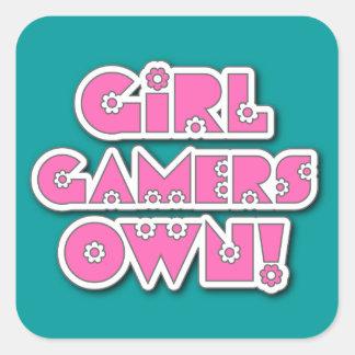 女の子のゲーマーは所有します! ステッカー