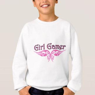 女の子のゲーマー スウェットシャツ