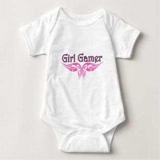 女の子のゲーマー ベビーボディスーツ