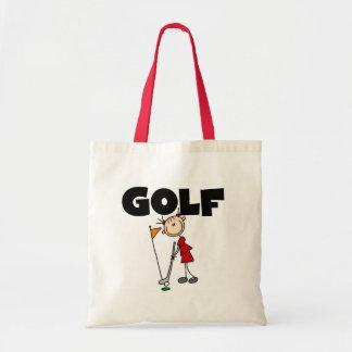 女の子のゴルフTシャツおよびギフト トートバッグ