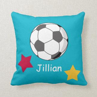 女の子のサッカーのカスタムな枕ギフト クッション