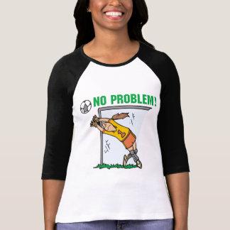 女の子のサッカーのゴールキーパーのTシャツおよびギフト Tシャツ