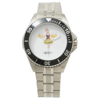 女の子のサービングビール腕時計 腕時計