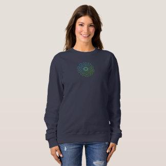 女の子のスエットシャツのnavyblueカスタム スウェットシャツ