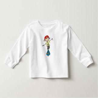 女の子のスケートボーダーのTシャツおよびギフト トドラーTシャツ