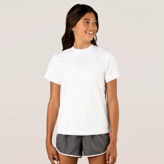 女の子のスポーツTekの競争相手のTシャツ Tシャツ