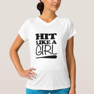 女の子のソフトボールのトレーニングのワイシャツのような衝突 Tシャツ