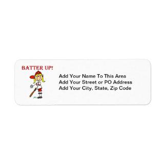 女の子のソフトボールのワイシャツおよびギフトの上の赤い文字のねり粉 ラベル