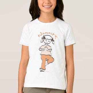 女の子のナマステのヨガのギア Tシャツ