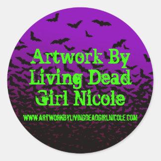 女の子のニコール生存死んだW/Link気の変なStによるアートワーク ラウンドシール