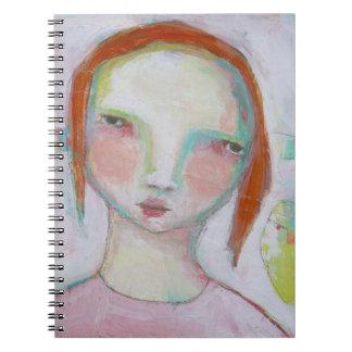 女の子のノート ノートブック