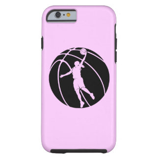 女の子のバスケットボールのシルエット ケース