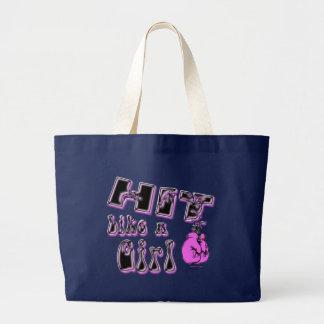 女の子のバッグのような衝突 ラージトートバッグ
