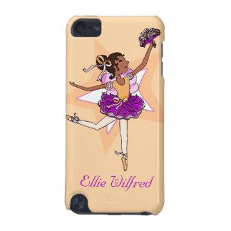 女の子のバレリーナのモモの黒い髪の名前のiPodの箱 iPod Touch 5G ケース