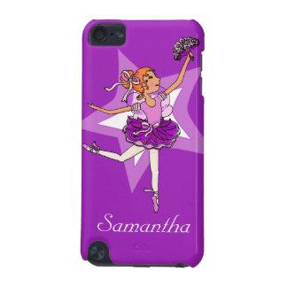 女の子のバレリーナの紫色の赤い毛の名前のiPodの箱 iPod Touch 5G ケース