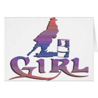 女の子のバレルの競争 カード