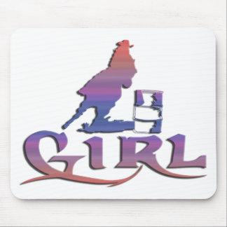 女の子のバレルの競争 マウスパッド