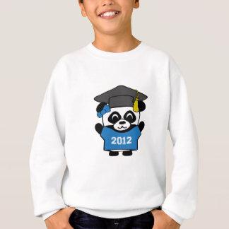 女の子のパンダ青及び白の2012年の卒業生 スウェットシャツ