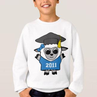 女の子のヒツジ青及び白の2011年の卒業生 スウェットシャツ