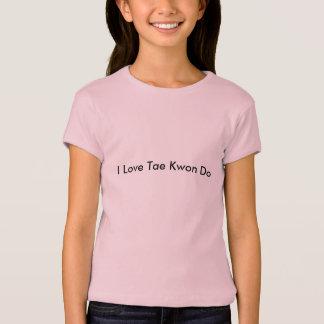 女の子のピンクのテコンドーのTシャツ Tシャツ