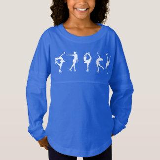 女の子のフィギュアスケート選手の長袖のワイシャツ ジャージーTシャツ