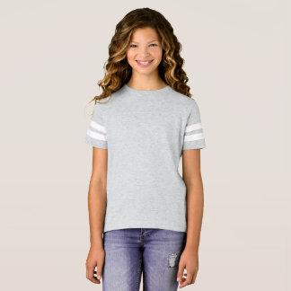 女の子のフットボールのワイシャツ Tシャツ