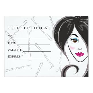 女の子のヘアーサロンのギフト券 カード
