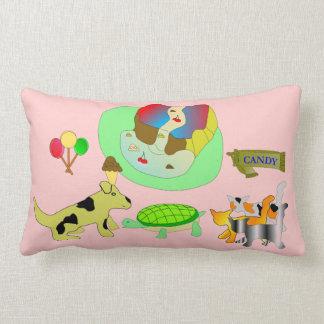 女の子のベッドの時間枕 ランバークッション