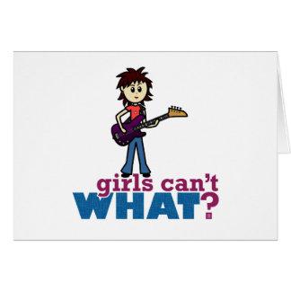 女の子のベースギタープレーヤー カード