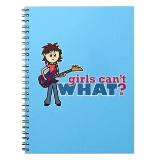 女の子のベースギタープレーヤー ノートブック