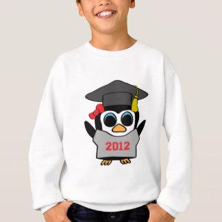 女の子のペンギン灰色及び赤の2012年の卒業生 スウェットシャツ